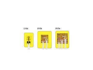 Серия V - герметичные тензорезисторы с многопроволочным соединительным проводом длиной 3 м.
