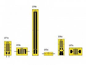 LY - лучшее для измерения в одном направлении. Типы LY1, LY2, LY4, LY5, LY6, LY7 и LY8 – линейные тензорезисторы геометрий и размеров...