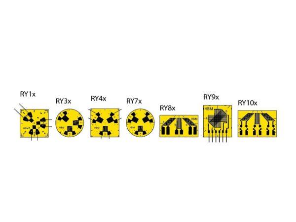 RY - Данные тензорезисторы предназначены для анализа режима двухосных напряженных состояний при неизвестных главных направлениях деформации..