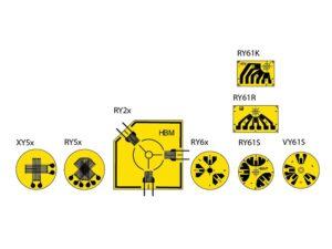 Тензорезисторы XY/RY - Компания HBM предлагает тензорезисторы для анализа остаточного напряжения, для кольцевого метода...