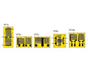 XY Т-розетки - имеется 2 измерительные решётки, расположенные со сдвигом 90° относительно друг друга...