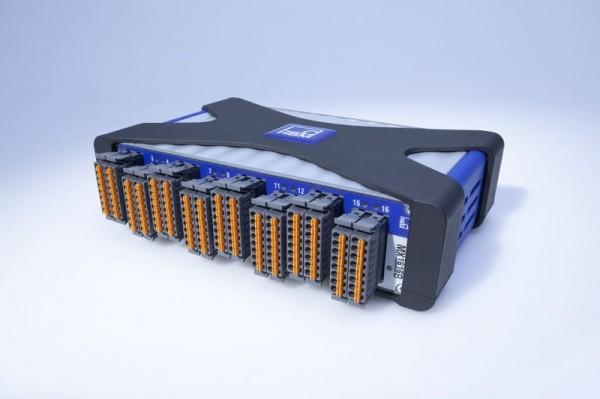 Усилитель для мостовых тензодатчиков MX1616B - HBM. 16 индивидуально конфигурируемых входов, возможность подключения тензодатчиков и тд.
