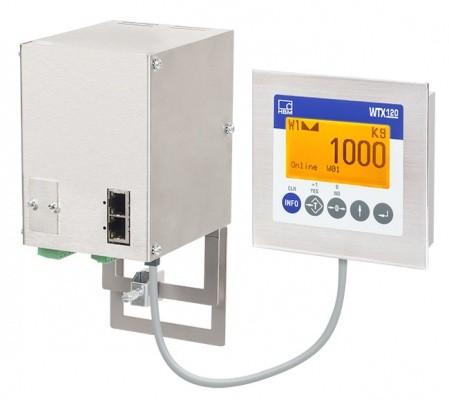 Промышленный весоизмерительный терминал WTX120 - Подключение до 8 тензодатчиков веса (350 Ом) через штепсельные разъемы...