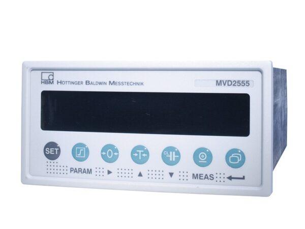 Усилитель для панельного монтажа MVD2555-RS485 с несущей частотой 4,8 кГц для полу- и полномостовых тензодатчиков.