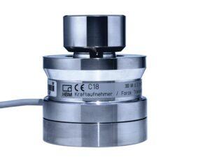 Датчик силы C18 - датчик усилия сжатия, номинальные усилия: от 10 кН до 5 МН, компактность и небольшой вес, в комплект поставки...
