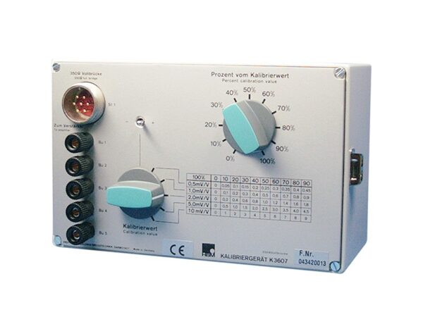 Калибратор K3607- возможность применения для многих типов измерительных цепей.HBM - Решения, которым вы можете доверять.