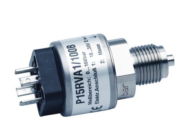 Датчик давления P15 - Р15RVA1: выход 0...10 В, Р15RVA2: выход 4...20 мА (2-провод.), оптимальное соотношение цена/ качество,высокая надежность