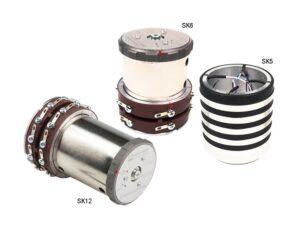 Токосъемники SK5, SK6, SK12 - износоустойчивость, высокое качество передачи, SK 6 и SK 12 с легко снимающимися щеточными узлами...