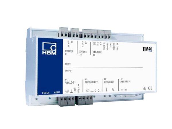 Интерфейсный модуль TIM 40 - Подключение датчика крутящего момента T40, Монтаж на опорной рельсе по DIN EN 60715...